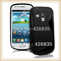 For Galaxy S3 Mini TPU Case, S Line TPU Cover Gel Case for Samsung Galaxy S3 Mini i8190, 200pcs/lot Free Film, Free Shipping