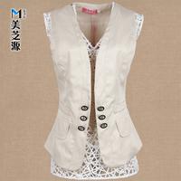 Vest spring and summer vest female plus size vest slim blazer vest