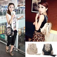 Fashion Women bag Button Vintage Punk designer women Backpack women leather Bag