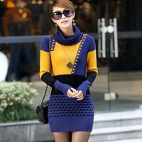 Winter slim medium-long thickening turtleneck sweater basic shirt vintage female outerwear