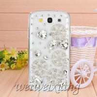 New arrive fashion diamond Snowflake case for Samsung galaxy s3 case for I9300 Mobile Border Protection free shipping