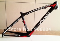 Free EMS Shipping Full Carbon Fibre MTB Frame/UD Matte Finish/Black&Red/17inch/For 26er Wheels/1290g/bike frame/bike parts