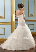 Vestido de novia vestido de fiesta de satén Envío libre LC048(China (Mainland))