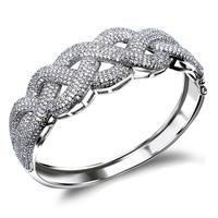 CZ Cubic Zirconia Bangle Pave Micro Setting New 2014 Bracelet Special Cross Unique Jewelry Vintage Brand Statement - VC Mart