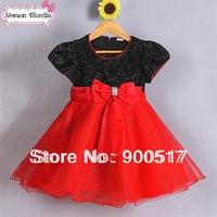 2014 New girls dress kids party one-pieces children tutu dress girls princess dress girls spring clothes