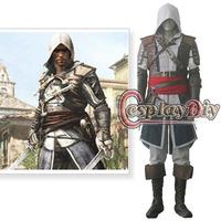 Free Shipping Customized Assassin's Creed IV Black Flag Edward Kenway Cosplay Costume