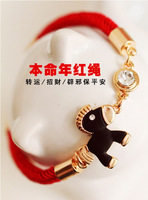 Red string bracelet hand  lucky disappearing peach windfall lucky accessories all-match fashion star