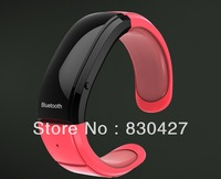 3Color freeshipping 1 piece Bluetooth Bracelet Watch for iPhone Mobile Phone +Time Display/Caller ID/Distance Vibration