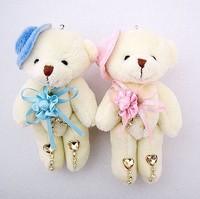 PP Cotton Plush Dress Bear Gift plush Toys Acrylic Diamond Dress With Hat  Bear Doll for Birthday Mini Gift 12pcs/Lot