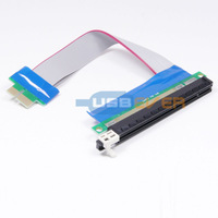 PCI-E 1x to 16x Extension Extender Cable PCI Express riser card Flexible ribbon Converter adapter