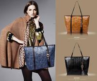 2013 Fashion Lady Women's Leather Handbag Big Capacity Shining Stone Pattern PU Leather Shoulder Bag Hobo Bag  free shipping