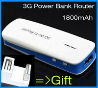 Free USB connector mini 3g wifi router  Hotspot Portable Powerbank router1800mAh English Manual & setup page  USB Interface