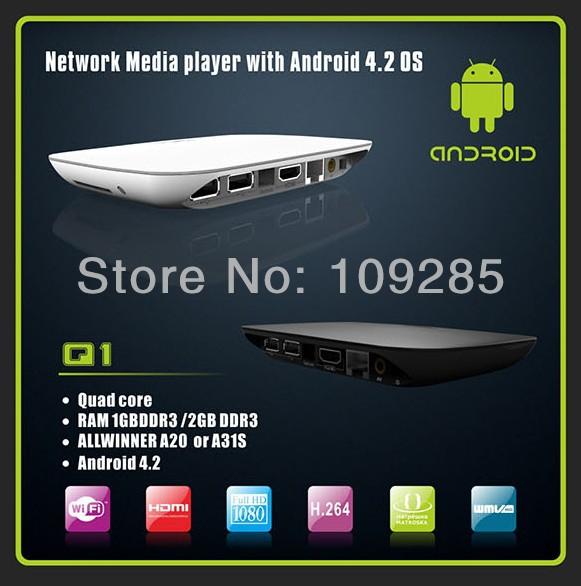 HD Media Player Video Streamer Dual Core 4GB Google Android 4.2 WIFI WLAN Smart TV Box Youtube XBMC Iplayer Media Player HDMI(China (Mainland))