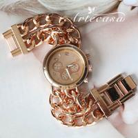 Free Shipping !Chain Bracelet Band Luxury Fashion Brand Watch,Stainless Steel Women Quartz Dress Watches with LOGO