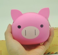 Lovely Cartoon Pink Pig Silicone Wallet Purse best Gift For Girl Environmentally friendly materials Non-toxic