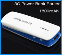 1800mAh  mini 3g wifi router  Hotspot Portable  Powerbank router English Manual & setup page  USB Interface