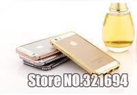 Bling Bling Luxury Swarovski Element Crystal Frame Bumper Case for iPhone 5 5S Free Shipping