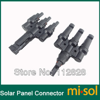 10 pairs/lot of MC4 Parallel connector 3M1F/3F1M Solar PV Connector Parallel for 3 solar panels