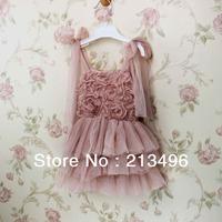 free shipping ! 2014 summer girl lace dress , girl flowre dress , 5pcs/lot