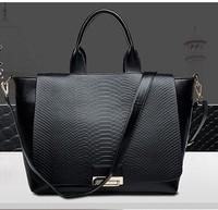 Free Shipping Fashion Bolsos Women Handbag Genuine PU Leather 2014 Designer Handbag High Quality Women Leather Bag Tote Female