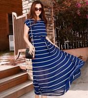 Free shipping!2014 spring summer fashion womnen  stripe bohemia lacing chiffon elegant star lover causl party dress A532