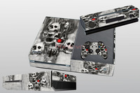 2014 Newest Cool Skull !! for X BOX ONE Console Free Shipping Custom Game Sticker Cover and Matching Controllers Skins