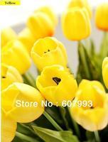 63cm real touch Tulip PU artificial flowers,christmas decorative flower,wedding flower arrangement table centerpiece,Free ship