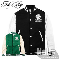 Hiphop hiphop funkmokey leather male lovers hip-hop bboy baseball jacket outerwear