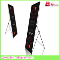Adjust x banner stand in size 80X180CM 60X160cm strong x banner stand with top quality free shipping