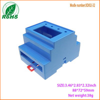 Hinged plastic electrical enclosure custom ABS plastic enclosures din rail box  88*72*59mm 3.46*2.83*2.32inch