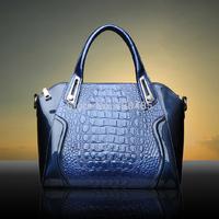 2014 Luxury Crocodile Bag High Quality Genuine Leather Women Handbag Brand Famous Tote Bag Fashion Ladies Shoulder Bag Crossbody