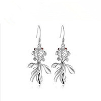 AE-001 925 silver Korea Hot fashion women's earrings wholesale wild fish every year