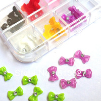 Free Shipping 60 pcs lovely  little flower design  resin decals for nail art nail art Rhinestone