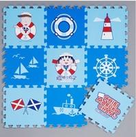 Free shipping-High quatliy 9pcs EVA multicolour foam puzzle mats baby crawling mat child blue play mats-Chibi Maruko chan