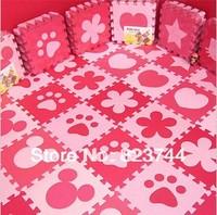 Free shipping 10pcs(0.9sq) Eco-Soft baby foam puzzle mats EVA floor pads  foam kids play puzzle mats Kids Floor Mats
