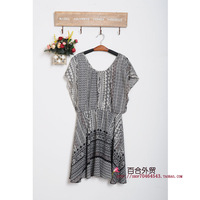 Q348 chiffon one-piece dress
