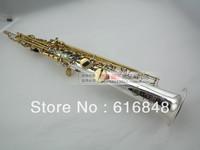 wholesale  France Copy Henri selmer B soprano saxophone Super action 80 series II silver plating surface