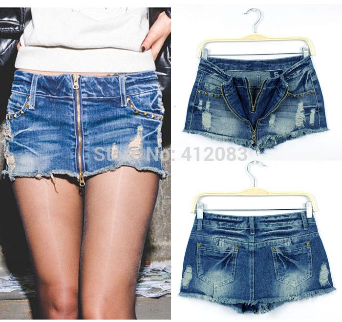Как из джинсовых шорт сделать юбку шорты
