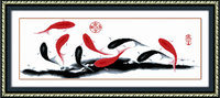 Print cross stitch new arrival fish brief version chinese style series