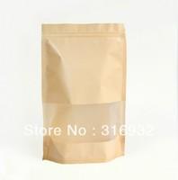 E1 Free Shipping 100pcs waterproof plastic kraft bag packaging bags 27.7cm*18cm*8cm