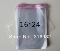 E4 Clear Resealable Cellophane/BOPP/Poly Bags 16*24 cm  Transparent Opp Bag Packing Plastic Bags Self Adhesive Seal