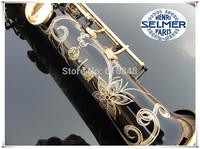 Wholesale France Henri selmer B soprano saxophone Super action 80 series II gold-bonded black body