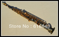 Wholesale  B the soprano saxophone Henry Reference 54 black grinding placer gold key