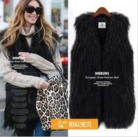Fashion New Winter Womens Fur Vest Plus Size Faux Fur Vest V-neck Sleeveless Fur Coat for Woman Long Vest Design Waistcoat
