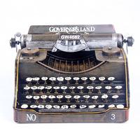 Fashion american vintage typewriter tin model decoration iron antique props decoration /home decor crafts