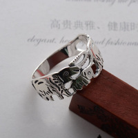 Flame 925 pure silver jewelry vintage thai silver brief picture like Women ring