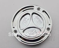 Brand New Chrome Keyless Fuel Tank Gas Cap For Suzuki GSXR1300 Hayabusa 2008 2009 2010 silver