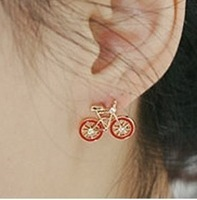 Sakura's Store New arrival small accessories rhinestone fashion cute stud earring earrings bicycle stud earring