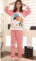 The cat's pajamas Princess cute cartoon cotton long sleeved pajamas ensembles, Home clothes sleepwear tracksuit leisure clothes