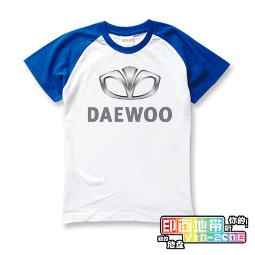 Child family fashion sleeve raglan short-sleeve T-shirt daewoo cars the sign(China (Mainland))